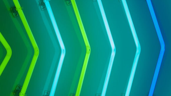 blue-green-neon-arrows